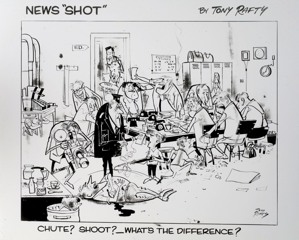 News Shot Cartoon