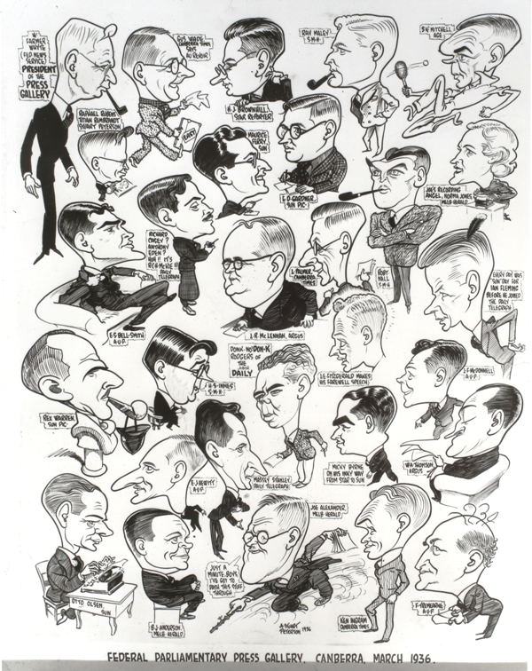 Federal Parliamentary Press Gallery Cartoon, March 1936.