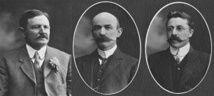 Three members of the first Federal Parliamentary Press Gallery, notable for covering federal politics before the first Parliament had sat, from left: David Maling, George Cockerill and Gerald Mussen. Photos: State Library of Victoria.