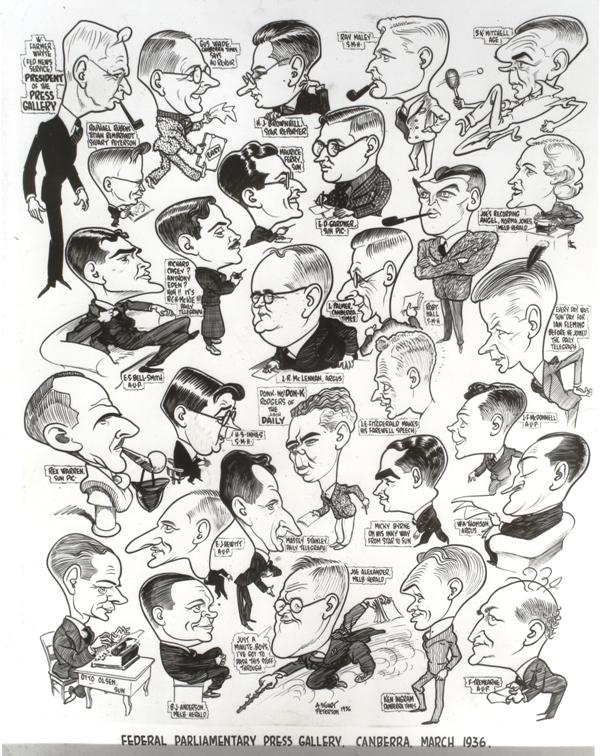 Federal Parliamentary Press Gallery Cartoon, March 1936.