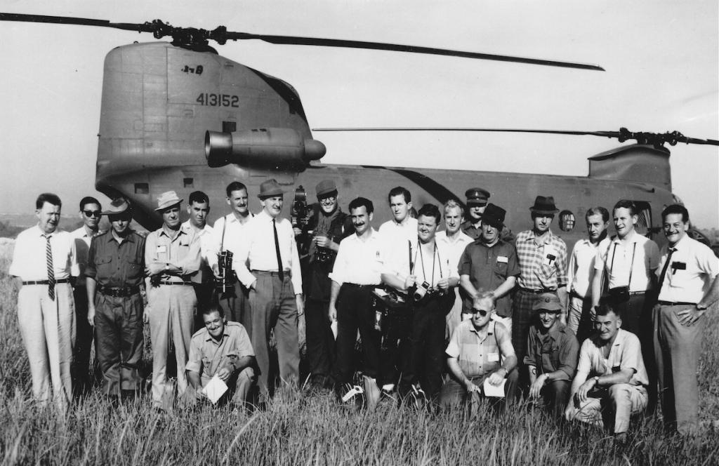 Media team covering Prime Minister Harold Holt's Vietnam visit, 1966-67. Photo courtesy of Tony Eggleton, press secretary to four Prime Ministers: Menzies, Holt, Gorton and Fraser.